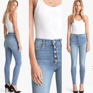 {Mother} The Fly Cut Stunner Ankle Fray Jeans 27